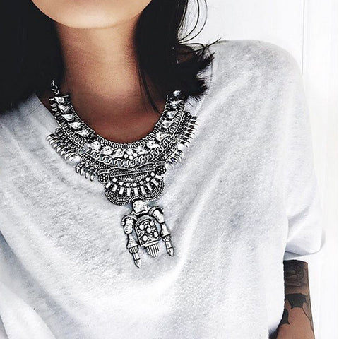 Piccadilly Gunmetal Statement Necklace | AURA