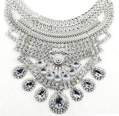 Mayfair Silver Statement Necklace | AURA