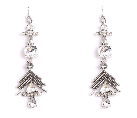 Fitzrovia Silver Statement Earrings | AURA