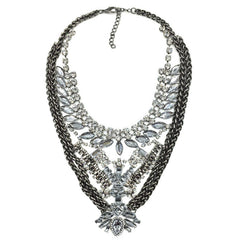 Waterloo statement necklace silver | AURA