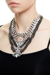 WATERLOO STATEMENT NECKLACE - SILVER