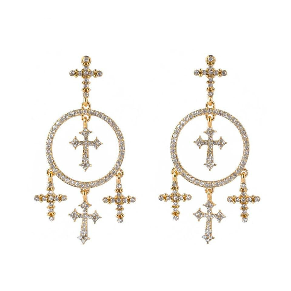 TEMPLE GOLD EARRINGS