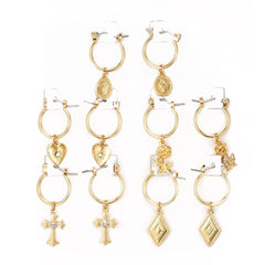PARK ROYAL GOLD EARRING SET