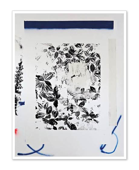 White Blue Garden | Carré Art