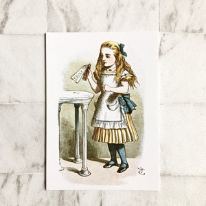 Alice In Wonderland Postcard -  'Drink Me' Illustration - Nabu Bookish Gifts | Literary Gifts For Book Lovers