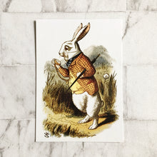 Alice In Wonderland Postcard -  White Rabbit Illustration - Nabu Bookish Gifts
