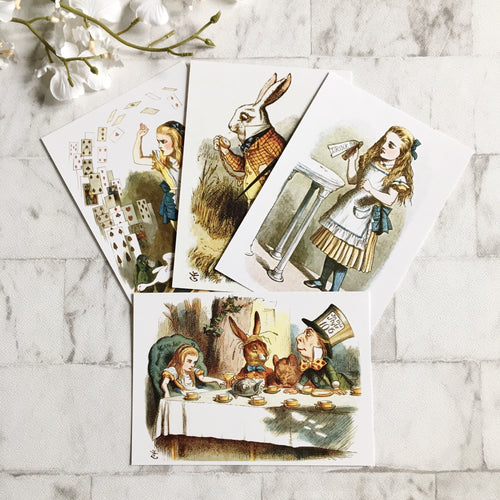 Alice In Wonderland Postcard Set