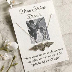 Dracula Bat Necklace - Nabu Bookish Gifts
