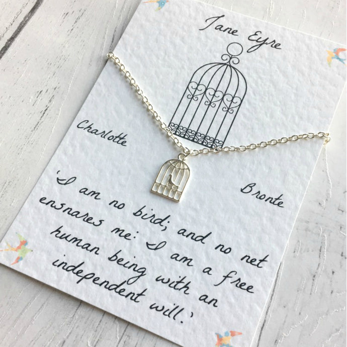 Jane Eyre Necklace - Sterling Silver/Silver Plated - Nabu - Literary Gifts For Book Lovers
