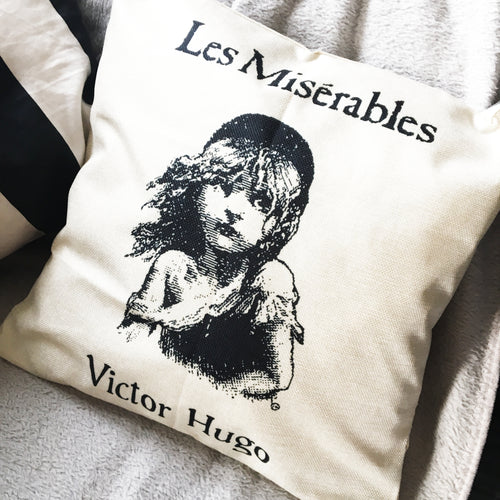 Les Miserables Cushion Cover Print - Nabu Bookish Gifts | Literary Gifts For Book Lovers