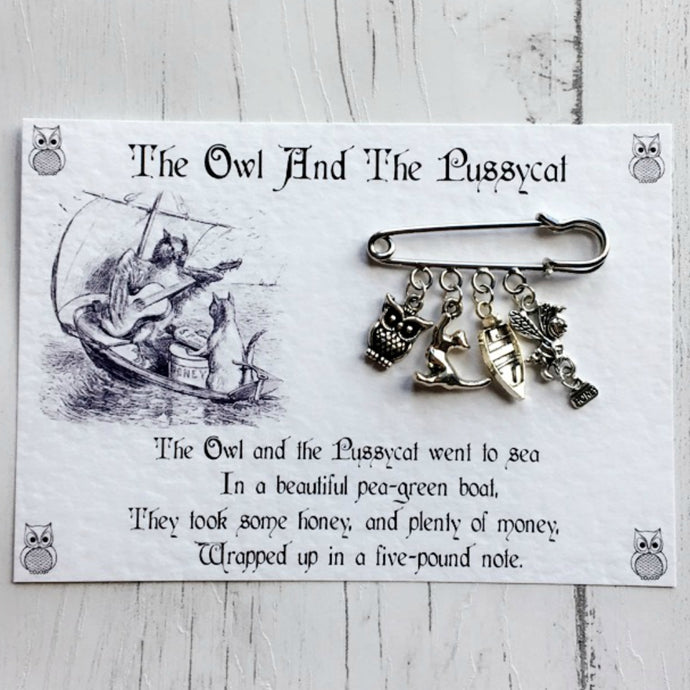 The Owl And The Pussycat Brooch - Nabu Bookish Gifts