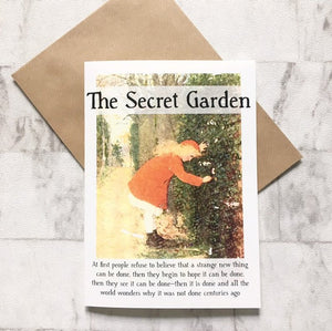 The Secret Garden - Greeting Card - Nabu Bookish Gifts | Literary Gifts For Book Lovers