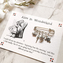 Alice In Wonderland Brooch - Nabu Bookish Gifts | Literary Gifts For Book Lovers