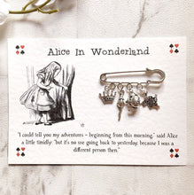 Alice In Wonderland Brooch - Nabu - Literary Gifts For Book Lovers