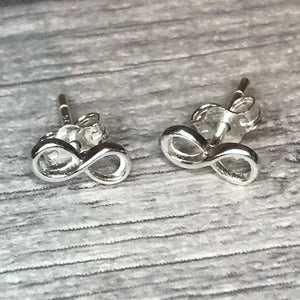William Blake Infinity Earrings - Sterling Silver Studs
