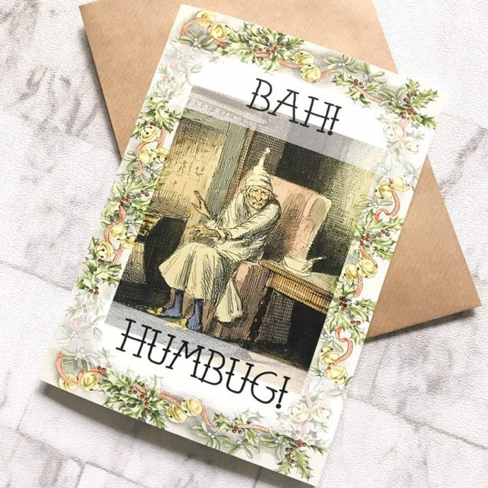 A Christmas Carol Greeting Card - Bah Humbug!