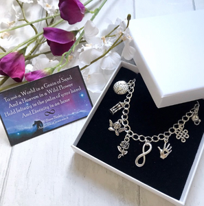 William Blake Bracelet- Auguries Of Innocence - Nabu Bookish Gifts | Literary Gifts For Book Lovers