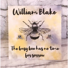 William Blake Earrings - Bee - Sterling Silver Studs - Nabu Bookish Gifts