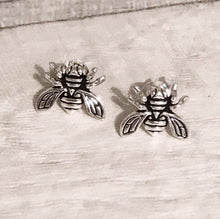 William Blake Earrings - Bee - Sterling Silver Studs - Nabu Bookish Gifts | Literary Gifts For Book Lovers