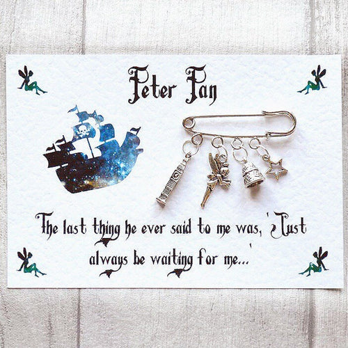 Peter Pan Brooch - Nabu Bookish Gifts | Literary Gifts For Book Lovers