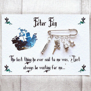 Peter Pan Brooch - Nabu Bookish Gifts
