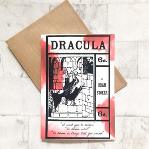 Dracula - A5 Greeting Card - Nabu Bookish Gifts | Literary Gifts For Book Lovers