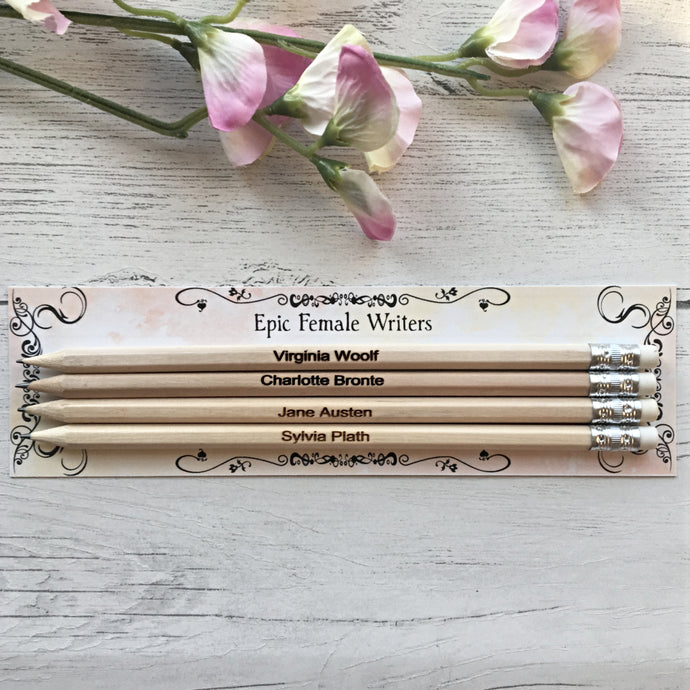 Epic Female Writers - Author Pencils - Nabu - Literary Gifts For Book Lovers
