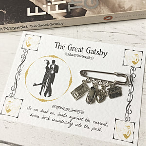 The Great Gatsby Brooch - Nabu - Literary Gifts For Book Lovers
