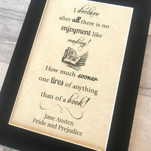 Pride & Prejudice Typography Parchment Print - Nabu Bookish Gifts