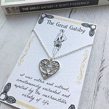 The Great Gatsby Daisy Necklace - Sterling Silver/Silver Plated - Nabu - Literary Gifts For Book Lovers