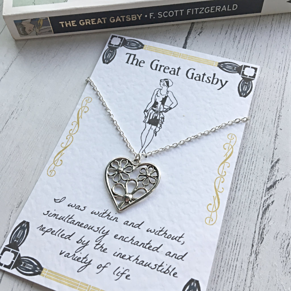 The Great Gatsby Daisy Necklace - Nabu Bookish Gifts | Literary Gifts For Book Lovers