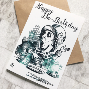 Alice In Wonderland Birthday Card - Mad Hatter - Nabu Bookish Gifts | Literary Gifts For Book Lovers