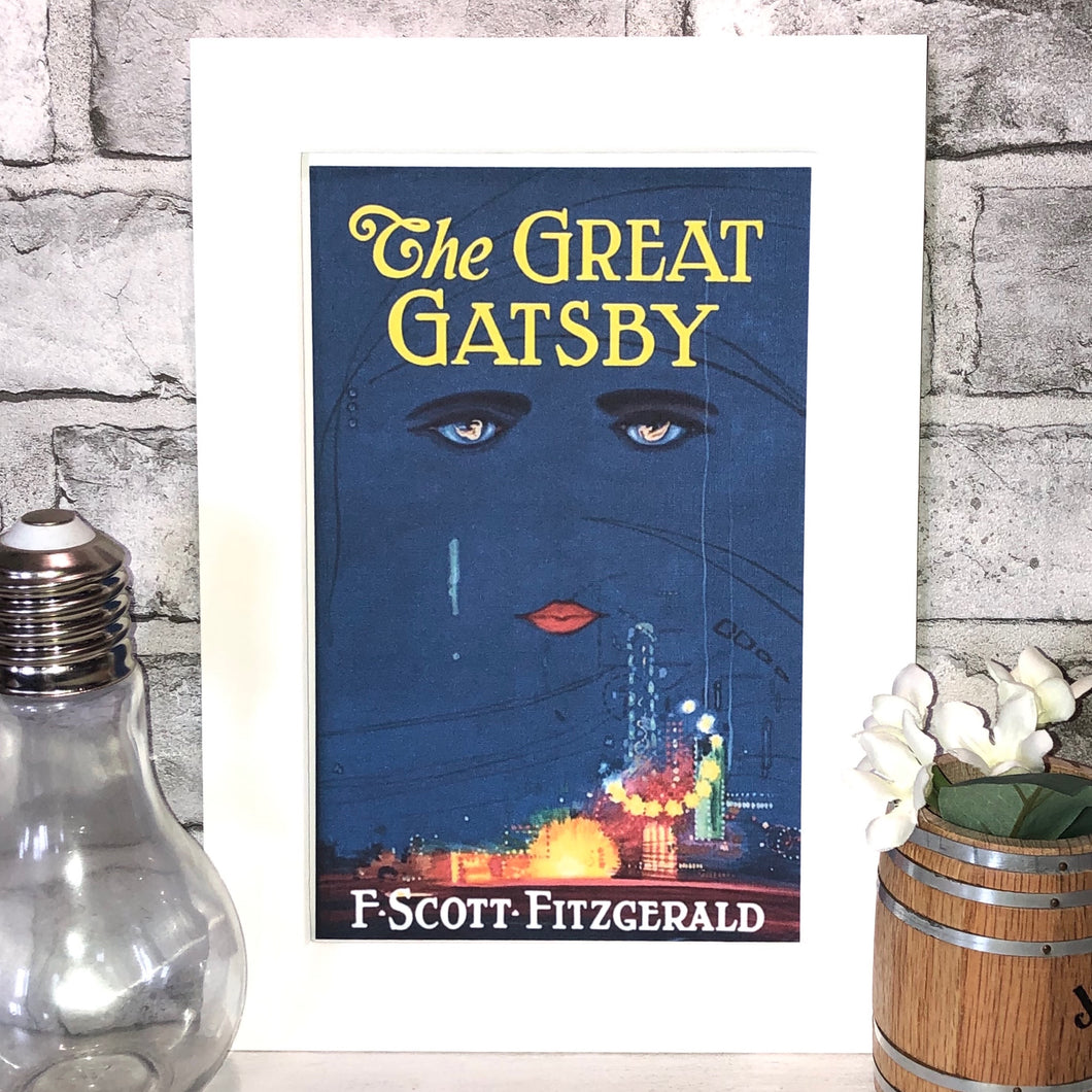 The Great Gatsby Book Cover Print - Nabu Bookish Gifts