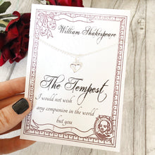 William Shakespeare The Tempest Necklace - Sterling Silver - Nabu Bookish Gifts