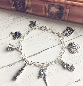 Peter Pan Bracelet - Sterling Silver/Silver Plated - Nabu - Literary Gifts For Book Lovers