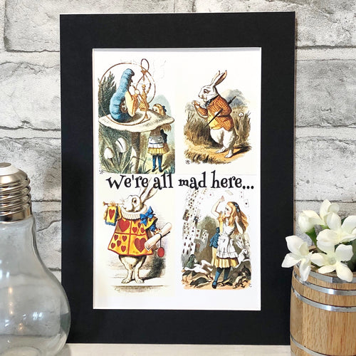 Alice In Wonderland Colour Print - Nabu Bookish Gifts
