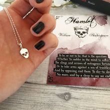 William Shakespeare Hamlet Necklace - Sterling Silver