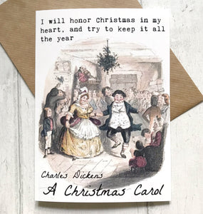 A Christmas Carol Greeting Card - Nabu Bookish Gifts
