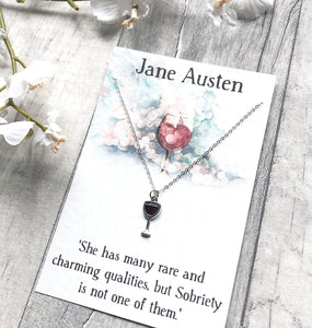 Jane Austen Necklace - Nabu Bookish Gifts