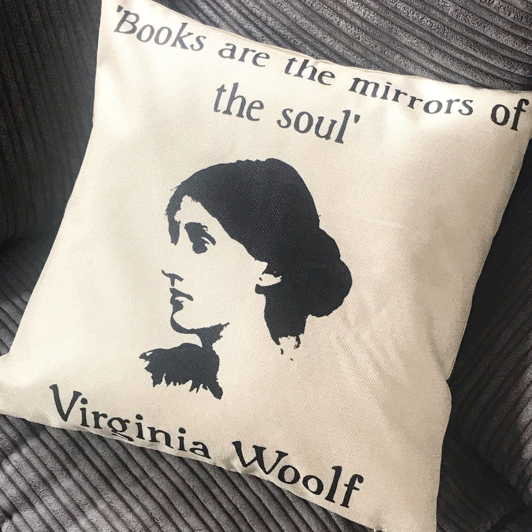 Virginia Woolf Cushion Cover Print - Nabu Bookish Gifts | Literary Gifts For Book Lovers