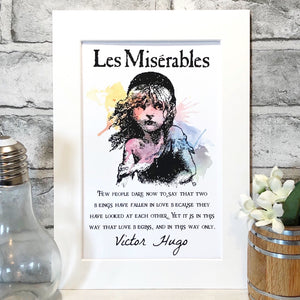 Les Miserables Colour Print - Nabu Bookish Gifts