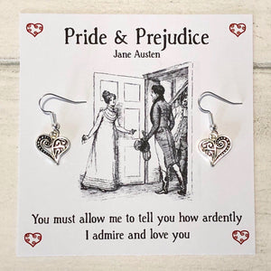 Pride And Prejudice Charm Earrings - Nabu Bookish Gifts