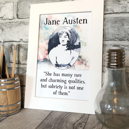 Jane Austen Art Print - Nabu Bookish Gifts | Literary Gifts For Book Lovers