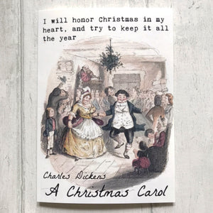 A5 A Christmas Carol Greeting Card - Nabu Bookish Gifts