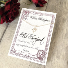 William Shakespeare The Tempest Necklace - Sterling Silver - Nabu Bookish Gifts | Literary Gifts For Book Lovers