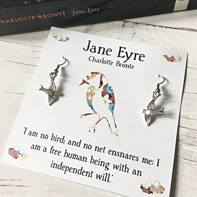 Jane Eyre Earrings - Literary Gift, Book Lover, Charlotte Bronte - Nabu - Literary Gifts For Book Lovers