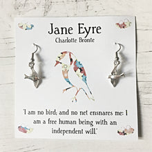 Jane Eyre Earrings - Literary Gift, Book Lover, Charlotte Bronte - Nabu Bookish Gifts