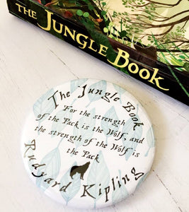 The Jungle Book 'Strength Of The Wolf' Pocket Mirror, Magnet Or Keyring - Nabu - Literary Gifts For Book Lovers