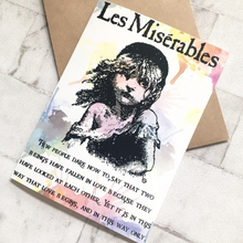 Les Miserables Greeting Card - Cosette - Nabu Bookish Gifts
