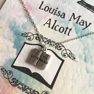 I Love To Read Booklover Necklace